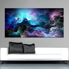 WANGART <b>Large Size Wall Art</b> Prints Cloud Abstract Colorful Oil ...