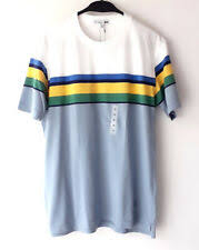 Uniqlo Jw Anderson Jwa Men Multi Stripe Short Sleeve T Shirt