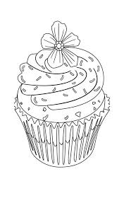 Small Picture cute cupcakes coloring page flower topping cupcake coloring page