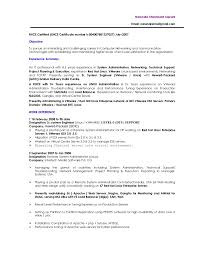 Linux Administrator Resume Com Simple Template Pdf 14985