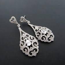 bridal earrings chandelier wedding earrings vintage glamour crystal earrings rhinestone earrings long bridal earrings