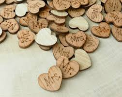 rustic wedding decor etsy Wedding Decorations Etsy 100 mr and mrs wood hearts, wood confetti engraved love hearts, rustic wedding decor etsy rustic wedding decorations