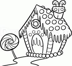 Small Picture Coloring Pages How To Draw A Gingerbread House Step How To Draw