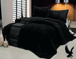 faux fur king size blanket 3 piece fur long pile black plush super soft blanket king faux fur king size