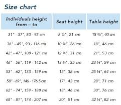 Table Chair Height Chart Semi Circle All Purpose Tables By Haba 167720 167740