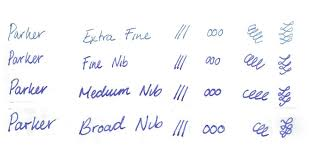 Fountain Pen Nib Width Comparison Blog