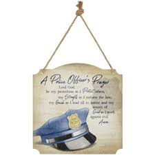 police officer s prayer metal wall
