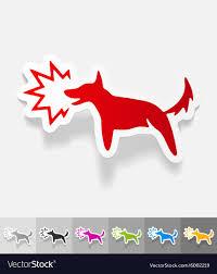 Jumping Dog Design Realistic Design Element Dog Barking
