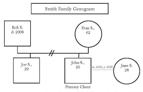 Genogram Key A Picture Is Worth A Thousand Words Socialworker Com