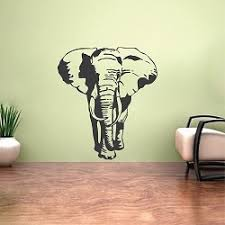 elephant vinyl wall decal large elephant stickers for walls beauautiful animal bedroom wall decor on alabama vinyl wall art with elephant vinyl wall decal home pinterest wall decals walls