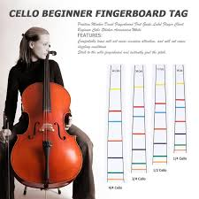 Us 0 69 20 Off Position Marker Decal Fingerboard Fret Guide Label Finger Chart Beginner Cello Sticker Accessories White In Cello From Sports