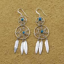 Double Dream Catchers Native American Double Dream Catcher Earrings 51