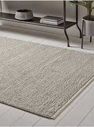 new grey cream looped rug