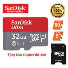 Thẻ nhớ SanDisk 32GB Ultra Class 10 667x 100MB/s chuyên dụng camera yoosee,  camera IP, máy ảnh,...- Bảo hành 5 năm