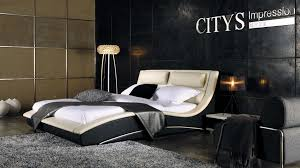 napoli modern platform bed creamblack (king)  furniturendecorcom