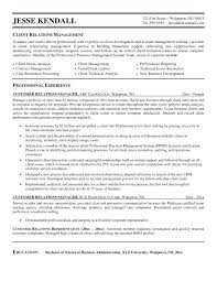 Client Relations Manager Sample Resume