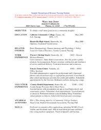 Resume Samples For Nursing Students Staff Nurse Resume India