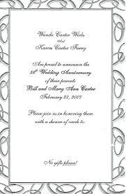 50th anniversary invitation cards s template