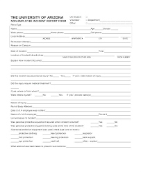 Non Injury Incident Report Template Mctoom Com