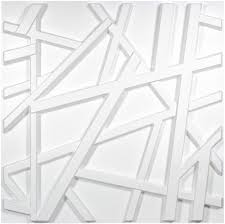 Cool idea for creating an accent wall in. Amazon Com Art3d Matt White Pvc 3d Wall Panel Geometric Crossing Lines Cover 32 Sqft For Residential And Commercial Interior Decor Kitchen Dining