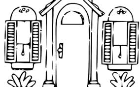 door clipart black and white. Front Door Clipart Black And White - ClipartXtras