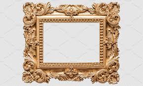 antique frame. Baroque Golden Picture Frame PNG Antique