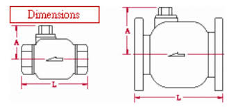 float valves pilot operated dimensions