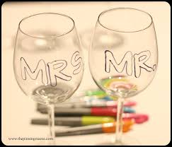 personalized wine glasses thepinningmama com remove your paper and color in your letters