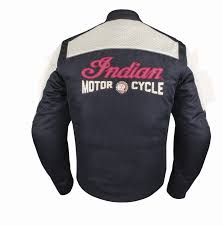 mesh panels are combined with leather gel padded palm velcro wrist closure with indian motorcycle branding