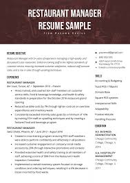 managers resume examples restaurant manager resume sample tips resume genius