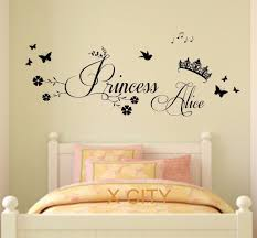 Aliexpress : Buy Princess Crown Personalised Name Children With Princess  Crown Wall Art (Image 4