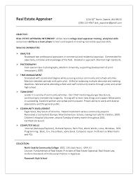 Appraiser Sample Resumes Real Estate Appraiser Sample Resume shalomhouseus 1