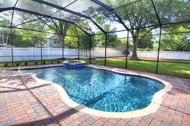 Pool Cage Designs Large Screened In Pool Pool Designs Florida Pool Pool Houses