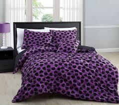 4 piece full mandy hearts comforter set purple black