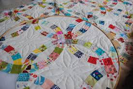 Double Wedding Ring quilt | The hand-quilting is slow in pro… | Flickr & ... Double Wedding Ring quilt | by quarter inch mark/ Chase Adamdwight.com