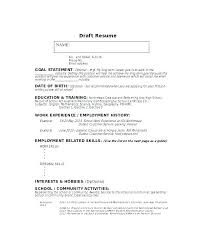 No Experience Resume Template Resume Template No Experience Resume ...
