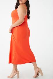 Forever 21 Waist Size Chart Plus Size Cowl Neck Midi Dress