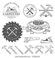 woodworking logo ideas. vector art : set of vintage carpentry tools, labels and design elements woodworking logo ideas