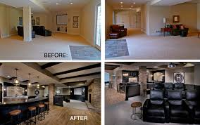 basement remodels before and after. Impressive Ideas Basement Remodel Before And After Cool Design Finishing Remodels N