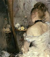 berthe morisot lady at her toilet oil painting reion