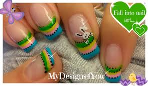 Easter Nail Art: Cute Easter Bunny - YouTube
