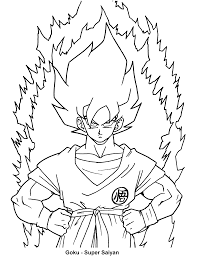 dragon ball z coloring page tv series picgifs com throughout pages