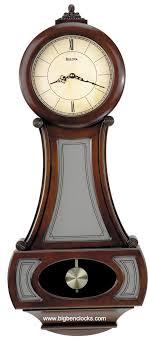 image of bulova manorcourt pendulum wall clock manchester bulova wall clocks bulova bellman