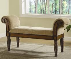 Padded Benches Living Room Bench Rolled Arms Would Fit In Entryway Hallway Bedroom Or