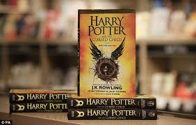 the script of harry potter and the cursed child was on display at foyles book