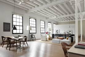 Amazing Modern Warehouse Apartment Interior Design Featuring White Magnificent Apartment Interior Design Painting