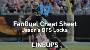 Standard Nfl Team Depth Chart Cheat Sheets Fanduel Nfl Week 14 Cheat Sheet Daily Fantasy Rankings