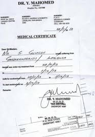 Fake Doctors Note South Africa Sick Notes For Sale News24