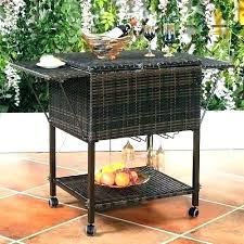 party cooler on wheels outdoor coolers idea patio or wicker cart pool rolling home depot beer