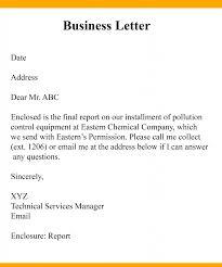 Business Letter Format Sample Business Letter
